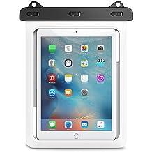 MoKo Funda Impermeable - Universal Waterproof Para Actividades al Aire Libre, Se Ajusta para iPad Pro 9.7, iPad 2 / 3 / 4, Tab A 9.7 / Tab E 9.6 y Otras Tabletas de 10 Pulgadas, Blanco