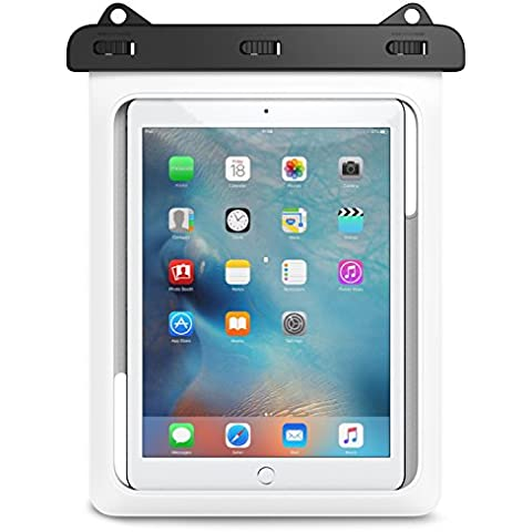 Waterproof Funda, MoKo Universal Waterproof Funda para Outdoor Activities, Fits iPad Pro 9.7, iPad 2 / 3 / 4, Tab A 9.7 / Tab E 9.6 and other tablets up to 10 inch, Blanco