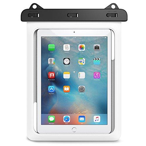 MoKo Wasserdichte Hülle Tasche Beachbag mit Halsband für iPhone X 8 5 5S 5SE 6 6S Plus,Huawei mate10 Samsung Galaxy S5 S6 S7 J5 A5, bis zu 10 Zoll Smartphone,IPX8, Weiß (Ipod Touch 6 Gehäuse Wasserdicht)