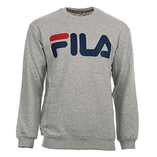 Fila Kriss Crewneck B13 Light Grey Melange - Big Crewneck Sweatshirt