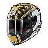 SHARK Motorradhelm Hark Race-R PRO Carbon Zarco, Schwarz/Or/Weiß, Größe M