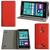 Etui luxe Nokia Lumia 925 rouge Ultra Slim Cuir Style avec stand - Housse coque de...