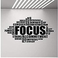 Focus Wall Sticker Motivational Sign Gym Word Poster Fitness Sport Vinyl Sticker Inspiring Bedroom Homegym 110X57Cm