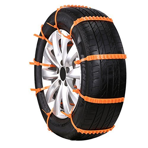 FEZZ 10pcs Chaine à Neige Anti-dérapants Pneu Universel Plastique Roue Hiver Anti Patinage Réglable Auto Glace Boue Extérieur