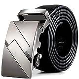 Vovotrade Cintura Uomini Leather automatico Fibbia Cinture della vita di modo da cintura