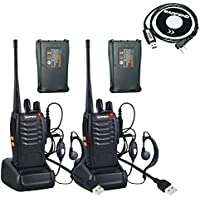Walkie Talkie(Pack 2),BaoFeng BF-888S Two Way Radios with 4 Li-ion Batteries