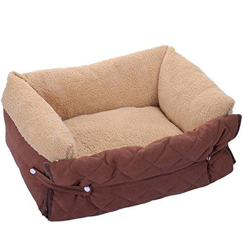 Lettino per cani, con 3 diversi utilizzi: tappetino copri cuscino rimovibile e traspirante, casetta calda e morbida per cuccioli, cuccia lettino per cani taglia media