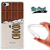 Becool® Fun - Funda Gel Flexible para Wiko Fever .Carcasa TPU fabricada con la mejor Silicona, protege y se adapta a la perfección a tu Smartphone y con nuestro diseño exclusivo Tableta de chocolate