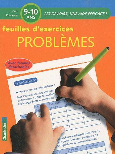 Feuilles d'exercices Problèmes Primaire CM1 : 9-10 ans