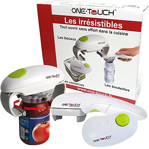 The Irresistible One Touch Jar Opener, Can Opener and Bottle Opener