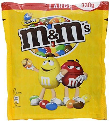 M&M\'S Peanut / Schokolierte Erdnüsse in bunter Zuckerglasur / Ideal zum Knabbern, Verschenken und Backen / 5er Pack (5 x 330g)