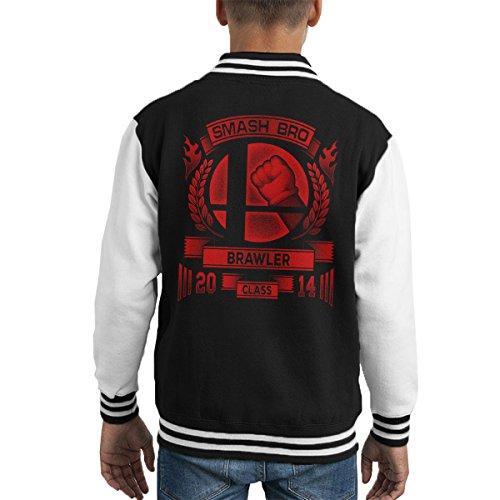 Smash Bro Brawler Mario Kid's Varsity Jacket