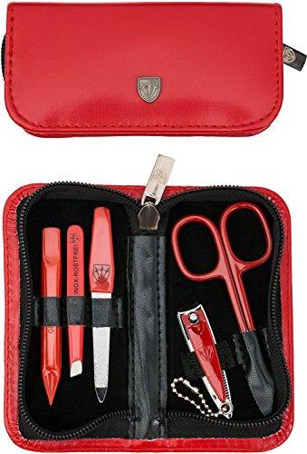 TROIS EPÉES | Kit / set / ensemble / trousse de manicure – manucure – pédicure – beauty / beaute – soins des ongles / personnels / mains / pieds | 5 pièces | marque de qualité (000491)