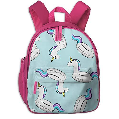 Zaino per bambini 2 anni,Unicorn Pool Float Toss (viola e blu) On Light Blue_3909 - littlearrowdesign, Per scuole per bambini Oxford panno (rosa)