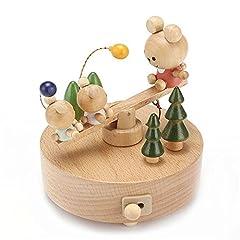 Idea Regalo - Scatola musicale in legno scalzato scatole musicali di legno divertente regalo di Natale decorazione regalo
