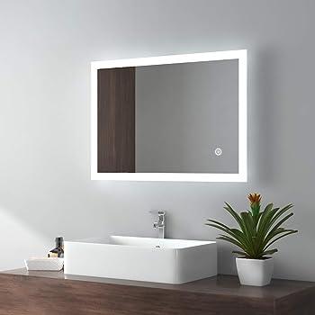 ALLDREI Badspiegel mit Beleuchtung AD25 Badezimmerspiegel mit ...