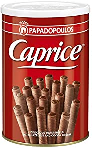 Caprice Wafer Rolls with Hazelnut and Cocoa Cream
