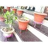 Matka/Plant Pot Stand by Om Craft Villa (Red, 18) (3 pics)