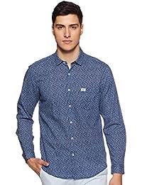Indigo Nation Men's Printed Slim Fit Cotton Casual Shirt