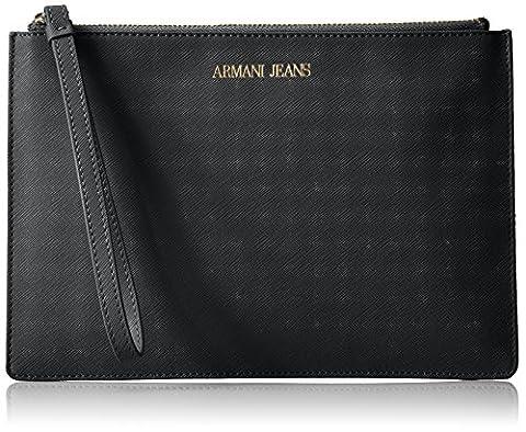 Armani Jeans Bustina, Portefeuilles femme, Schwarz (Nero), 17x1x25 cm (B x H T)