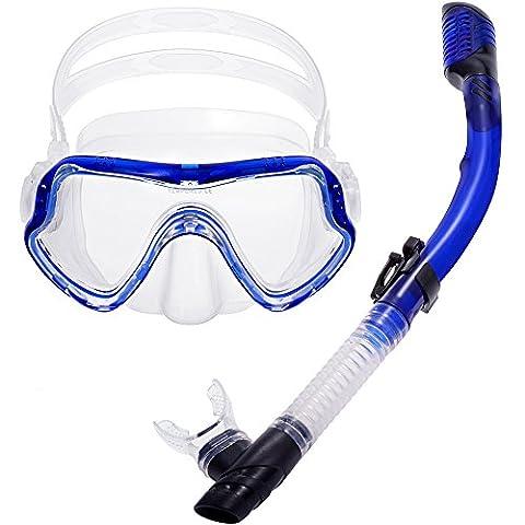 Zacro Scuba Diving Snorkeling Free Diving Mask Snorkel Set& Clear