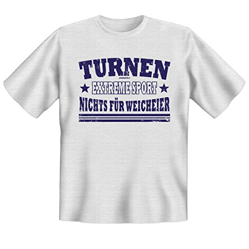 Turnen Extremesport - Nichts für Weicheier! - Exclusives T-Shirt für Turnvereine und Turnfreunde! Grau