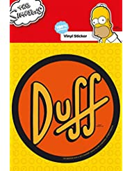 Set: Los Simpson, Duff Pegatina Vinilo Autoadhesivo (15x10 cm) y 1x Pegatina Sorpresa 1art1®