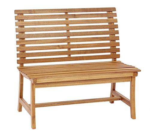 Dehner Gartenbank Paisley, 2-Sitzer, ca. 105 x 63 x 95 cm, FSC Akazienholz, Geölt, Natur