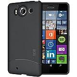 Microsoft Lumia 950 Funda, TUDIA ultra delgado Mate Completa ARCH TPU caso de parachoques de protección Funda Carcasas para Microsoft Lumia 950 (Negro)