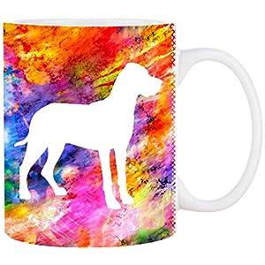 Cadouri Hunde-Tasse DEUTSCHE DOGGE mit Hunderasse┊Kaffeetasse Bürotasse┊tolle Geschenkidee für Hundeliebhaber