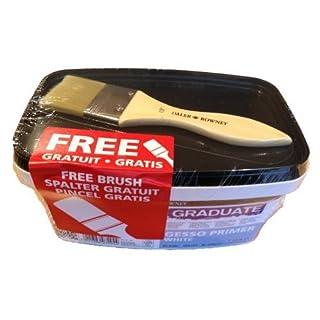 Daler Rowney White Acrylic Gesso Primer 1 Litre Tub 1 Ltr Pot - Includes Free 1.5