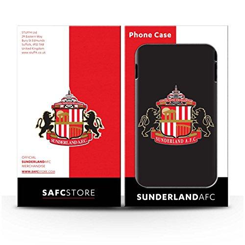 Offiziell Sunderland AFC Hülle / Case für Apple iPhone 7 / Gold Muster / SAFC Fußball Crest Kollektion Schwarz