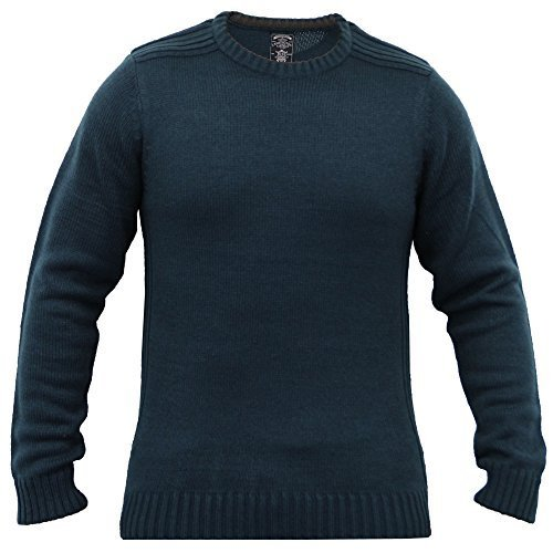 Herren Gestrickter Pullover Pullover Top Winter Pullover By Kensington Eastside Türkis - 1A8082