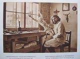 Oberammergau: Holzschnitzerwerkstatt Alois Lang, Christusdarsteller der Passionsspiele 1930 - historischer Fotodruck / Kupfertiefdruck - 1930