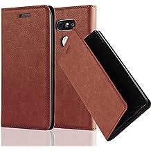 Cadorabo - Etui Housse pour LG G5 avec Fermeture Magnétique Invisible (stand horizontale et fentes pour cartes) - Coque Case Cover Bumper Portefeuille en MARRON-MOYEN