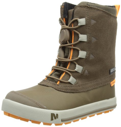 Merrell SNOW BANK WATERPROOF KIDS, Jungen Trekking- & Wanderstiefel, Braun (CHOCOLATE CHIP), 28 EU