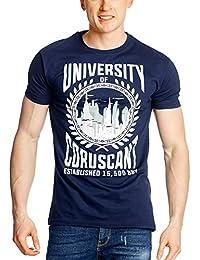 La Guerre des Etoiles - T-shirt Coruscant Galactic University pour fans - Coton - Bleu