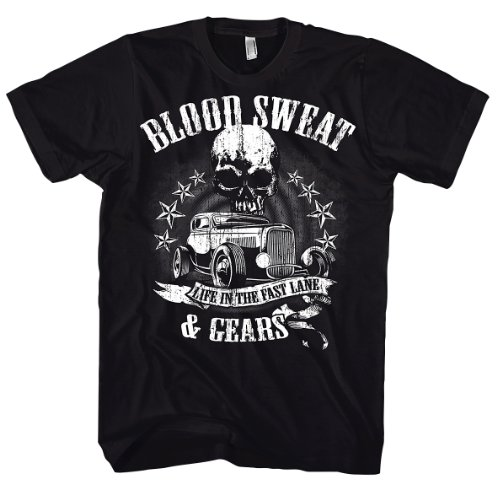 Rock Style Blood Sweat And Gears 700195 T-shirt Schwarz