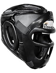 Farabi Guardia Protector de cabeza Cara de ahorro de casco con la cara frontal extraíble Grill (XL)