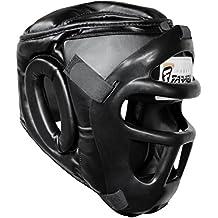 Protector de cabeza de boxeo, prototector de casco Kick cuero real (tamaño mediano)
