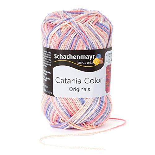 Schachenmayr Catania Color 9801780-00218 pastell Handstrickgarn, Häkelgarn, Baumwolle