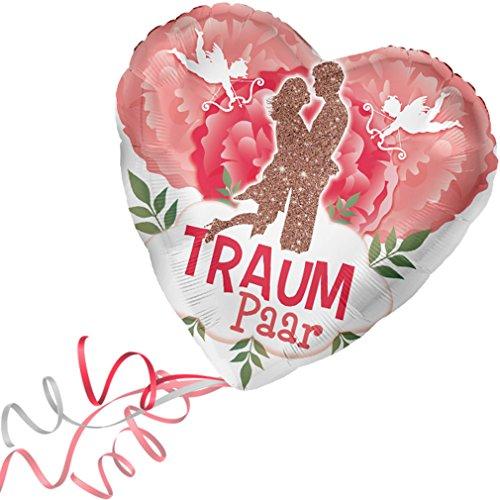 > > > Fertig Heliumbefüllt < < < Folienballon großes Herz rote Herzen Hochzeit > Traumpaar < Ballon mit Helium/Ballongas gefüllt Liebe Heiratsantrag Valentinstag von Haus der Herzen®
