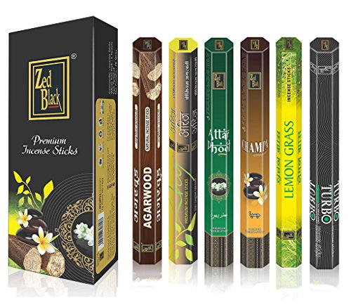 Aroma-Series-Premium-Incense-Sticks-Pack-of-6-Serene-and-Enthralling-120-Incense-Sticks