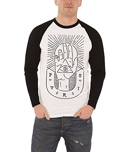 PVRIS T Shirt Uomo band logo sketched Hand nuovo bianca Ufficiale shirt Baseball bianca