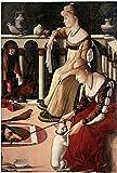 Berkin Arts Vittore Carpaccio Giclée Tela Stampa La Pittura Poster Riproduzione(Due Dame Veneziane)