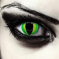 Lentilles de couleur vert sans correction oeil de chat costume + Récipient  gratuit - pour d 0ef3ef9bbeae