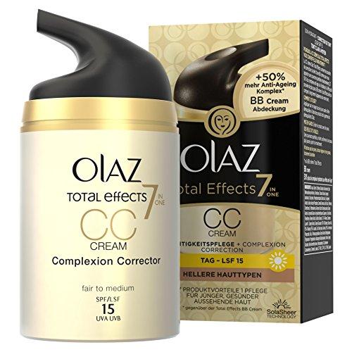 Olaz Total Effects 7-in-1 CC Cream Feuchtigkeitspflege Hellere Hauttypen, 50 ml -