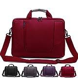 Laptop Umhängetasche Messenger Bag, Soft Nylon, Schaumstoff gepolsterten Aktentasche, abnehmbarer Schultergurt–für 14, 15,6, 17,3und 46,7cm Notebooks, schwarz, grau, lila und rot–von rawboe rot rot 17.3'