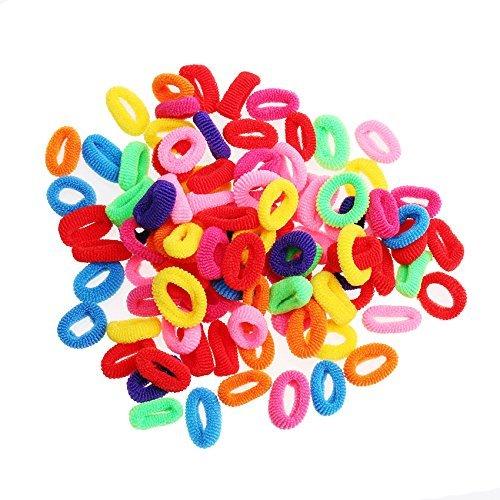 Zhichengbosi 200PCS misti colori ragazze elastico fascia per capelli, fasce per capelli accessori da donna