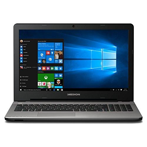 MEDION AKOYA E6422 MD 99880 39,6 cm (15,6 Zoll mattes Full HD Display) Notebook (4GB RAM, 500GB HDD, 128GB SSD, Intel-HD, DVD, Win 10 Home) silber